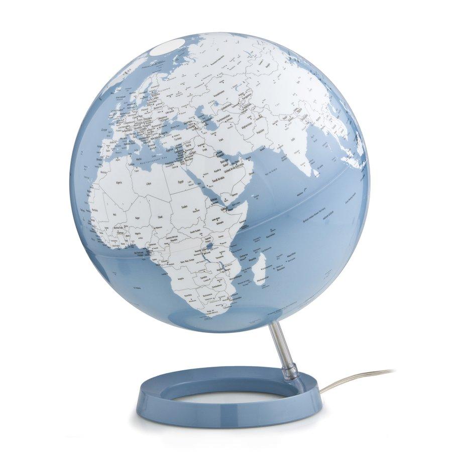 Wereldbol globe Bright Azure diameter 30cm kunststof voet met ...